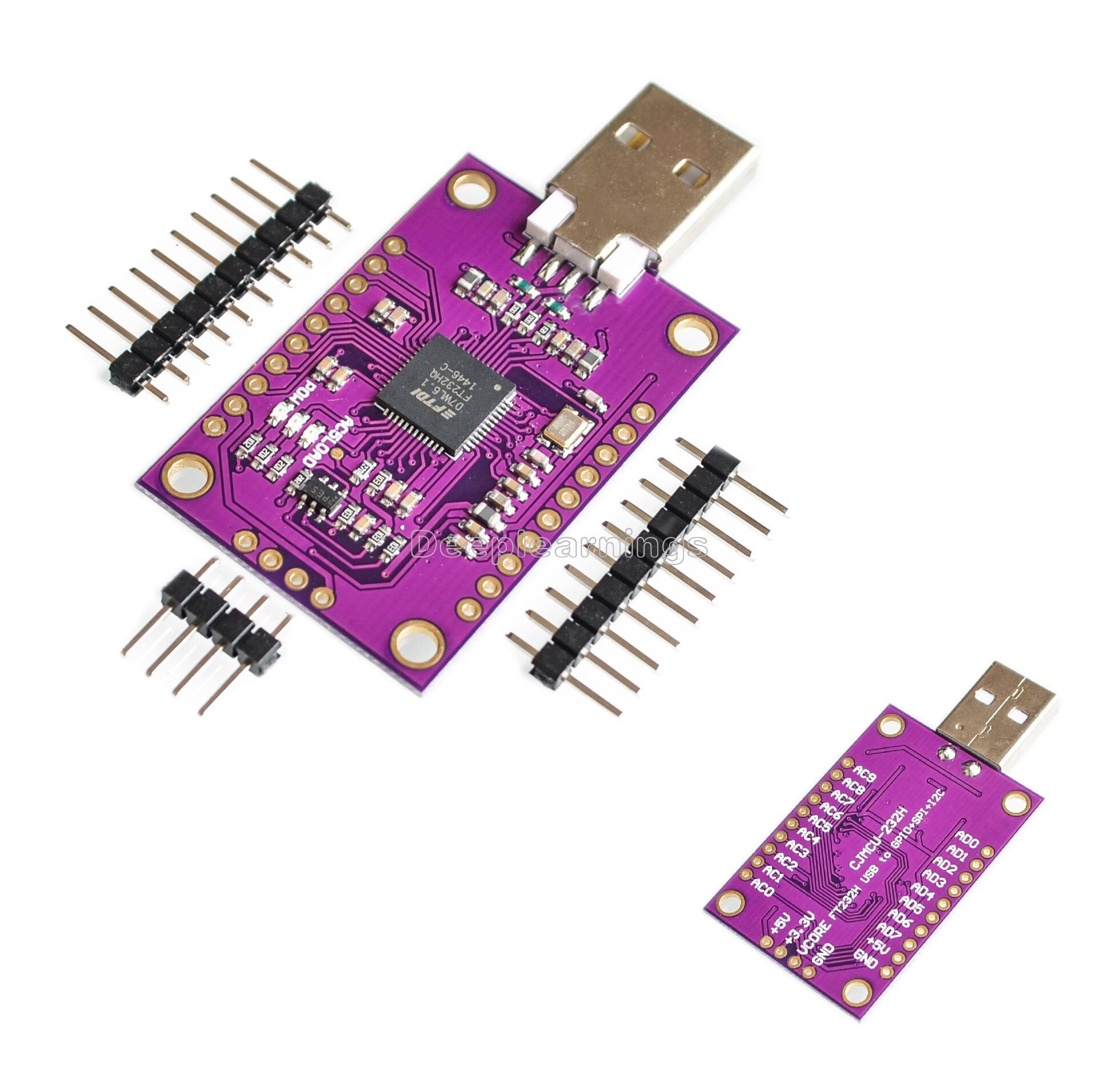Details about CJMCU FT232H High-Speed Multifunction USB to JTAG UART/ FIFO  SPI/ I2C Module