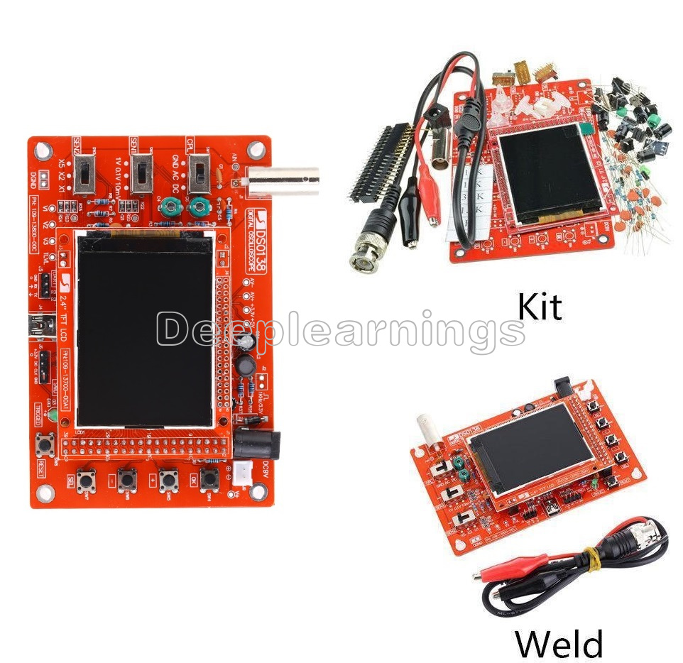Digital DSO138 Oscilloscope Acrylic Case Welded DIY Kit TFT SMD Soldered R2C0