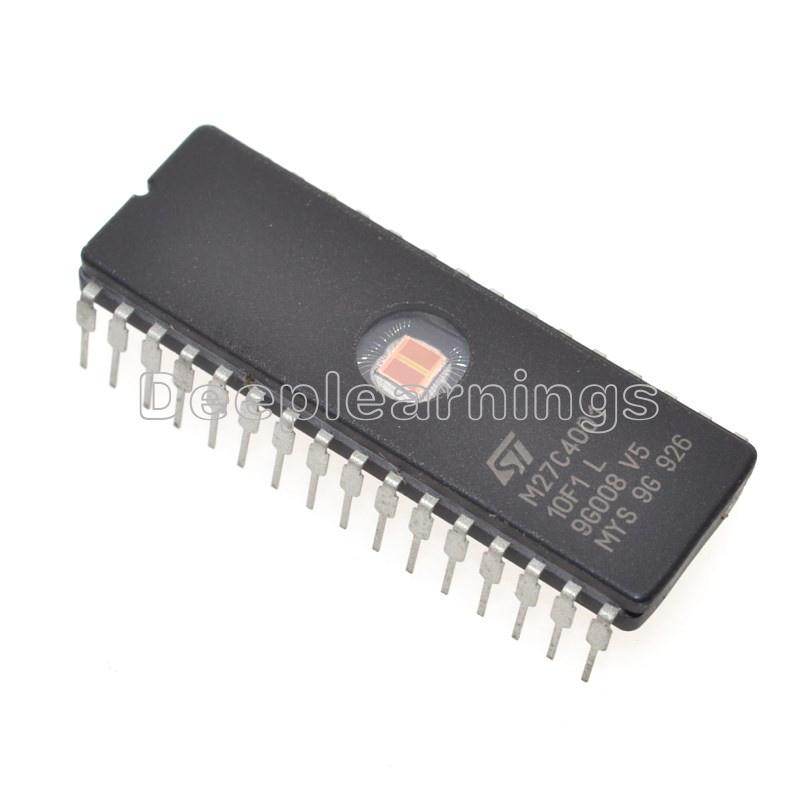 5PCS M27C4001-10F1 27C4001 ST IC EPROM UV 4MBIT 100NS 32CDIP New High quality