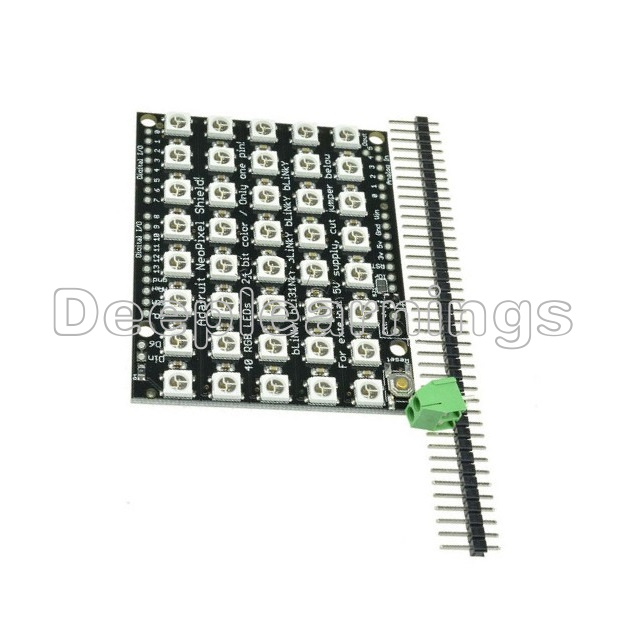 8x5 40 led matrix ws2812 led 5050 rgb full