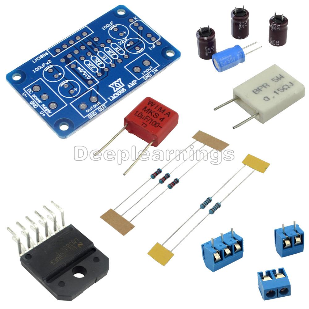 60w Lm3886tf Ac 2028v Sound Audio Amplifier Mono Digital Power Amp Circuit Schematic Diy Kits