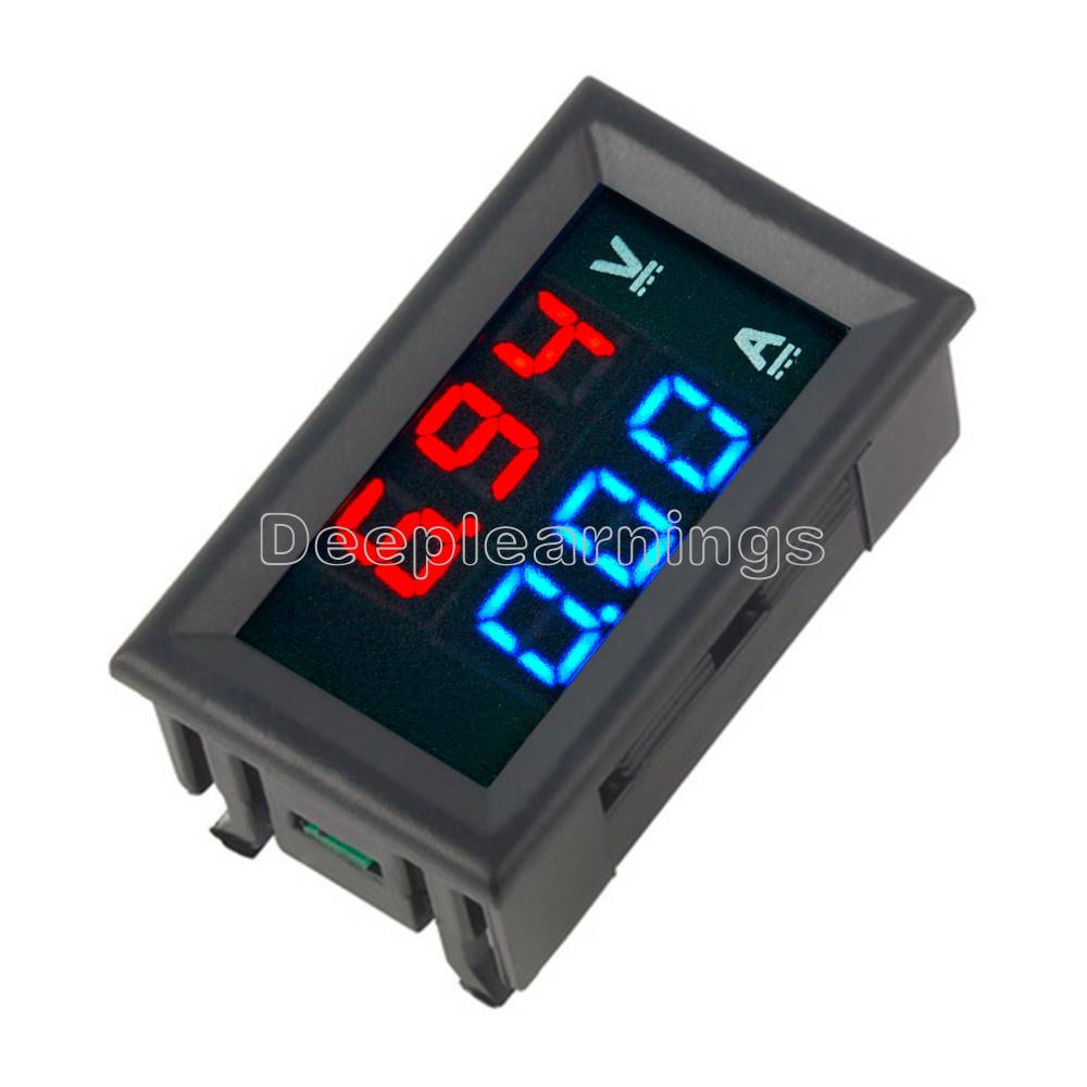 New Dc 100v 10a Voltmeter Ammeter Blue   Red Led Digital