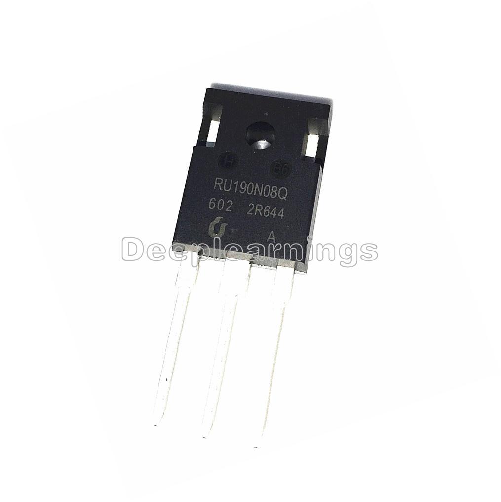 10 PCS RU190N08 RU190N08Q N-Channel Advanced Power MOSFET IC