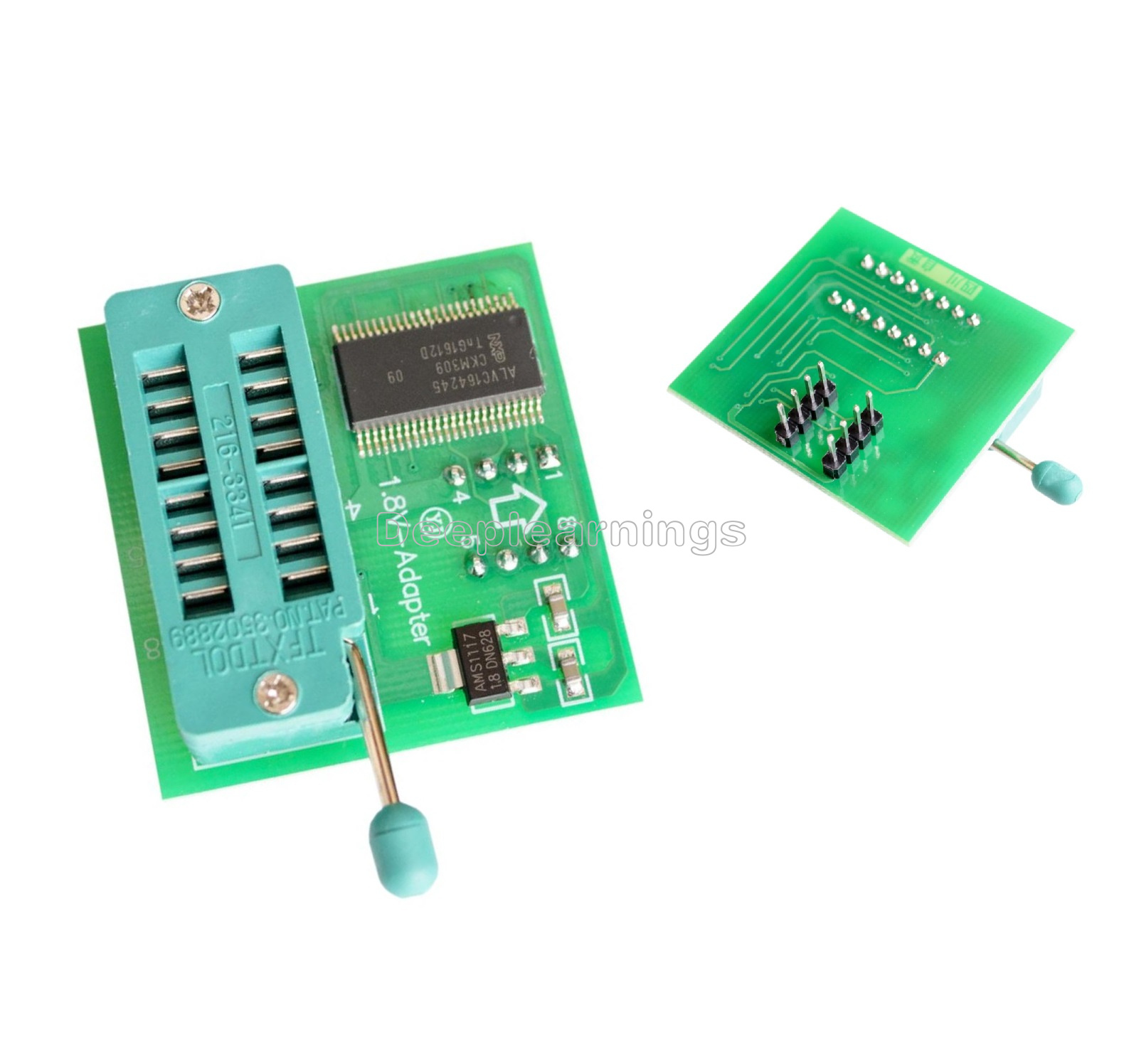 Details about 1 8V Adapter TL866II Programmer USB EPROM FLASH BIOS 6  Adapters Socket Extractor