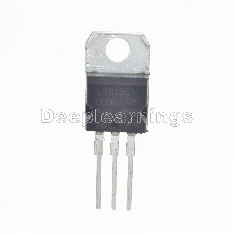 50 PCS IC L7812CV L7812 7812 TO-220 Voltage Regulator 12V NEW