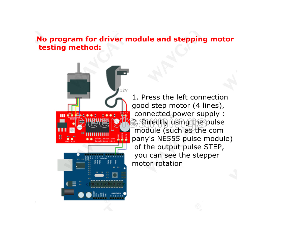 A3967 EasyDriver Shield Stepper Motor Driver Module V44 For Arduino ...