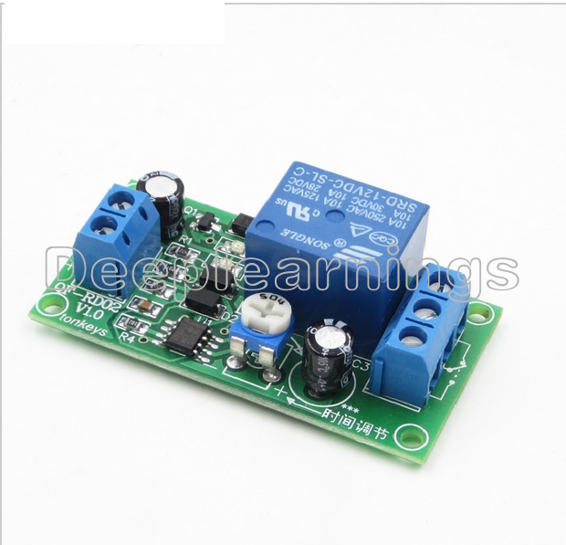 DC 12V 0-60 Second Adjustable Delay Time Turn off Switch NE555 Timer Relay