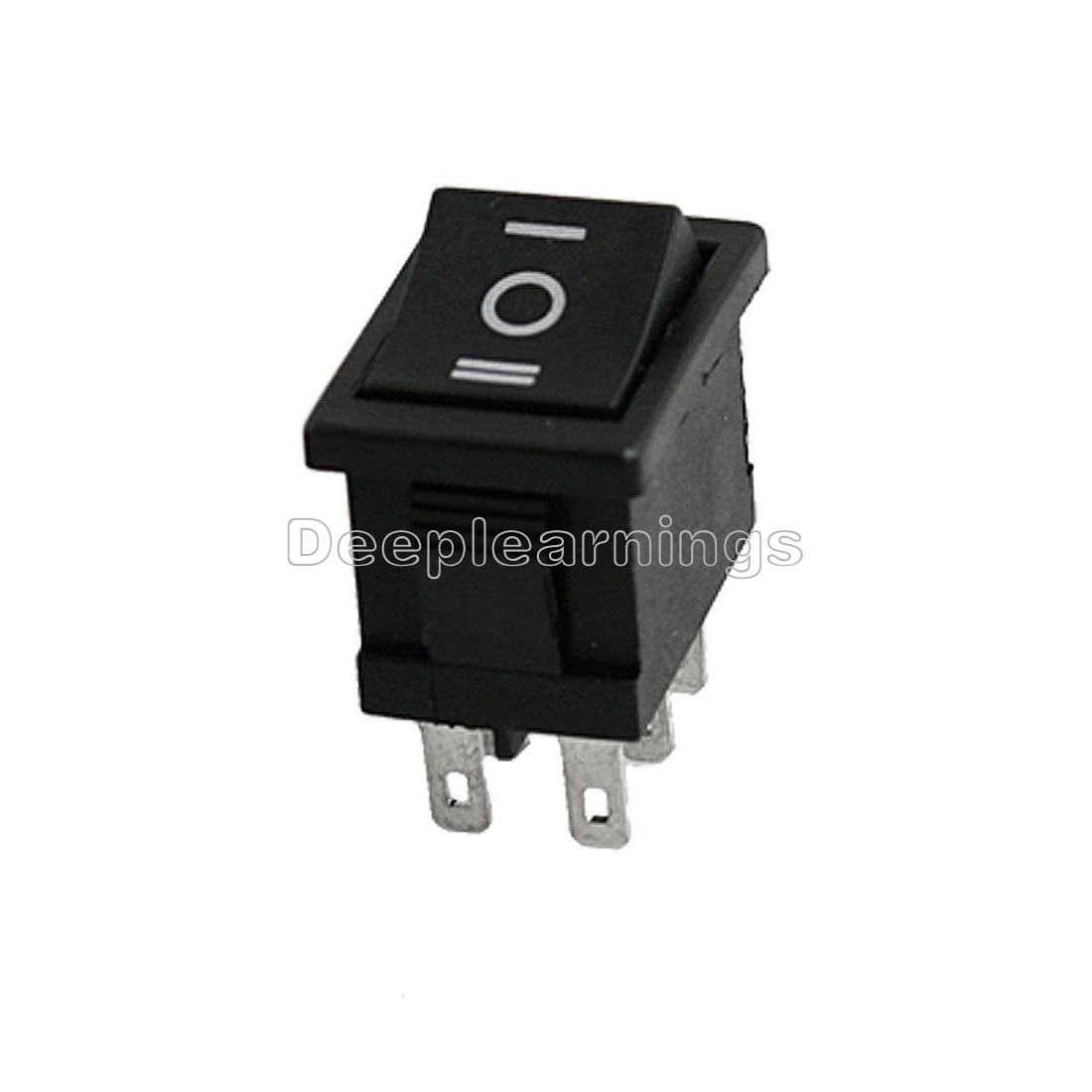 5PCS 6Pin DPDT ON-OFF-ON 3 Position Snap Boat Rocker Switch AC 6A//250V 10A//125V