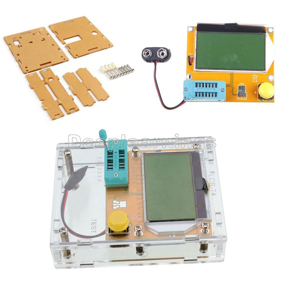 Transparent Acrylic Case Shell Box For LCR-T4 Transistor ESR Tester Capacitance
