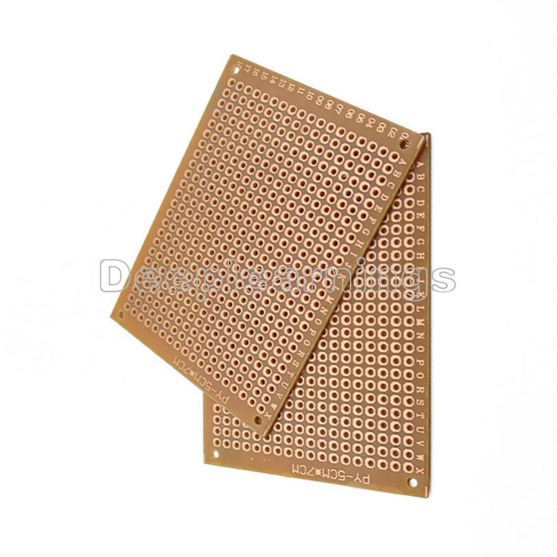 10PCS 5*7cm Useful PCBs DIY Prototype Paper PCB fr4 Universal Board Prototyping