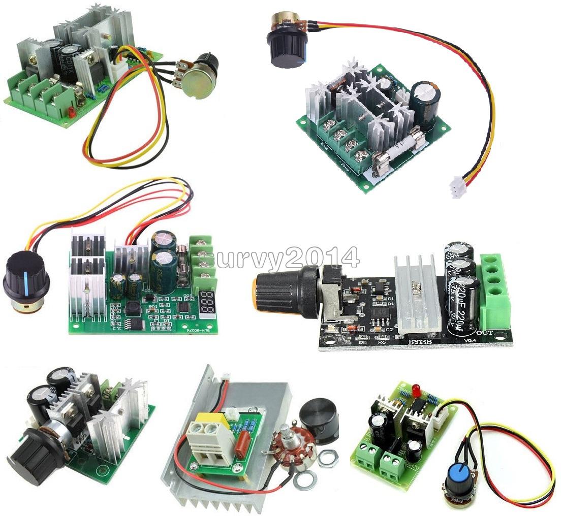 3//10//15//20A PWM 6-28V//10-60V//6-60V//12-40V//6-90V//12V 80W Speed Control Switch