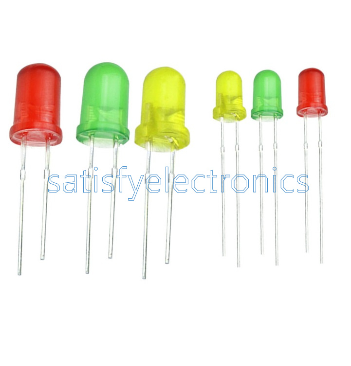 LED 3mm Red Green Yellow 300pcs 100pcs each color