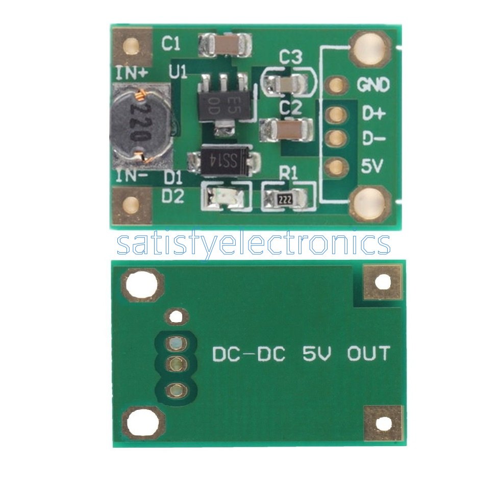 10PCS DC-DC Converter Step Up Module 1-5V to 5V 500mA Power Module