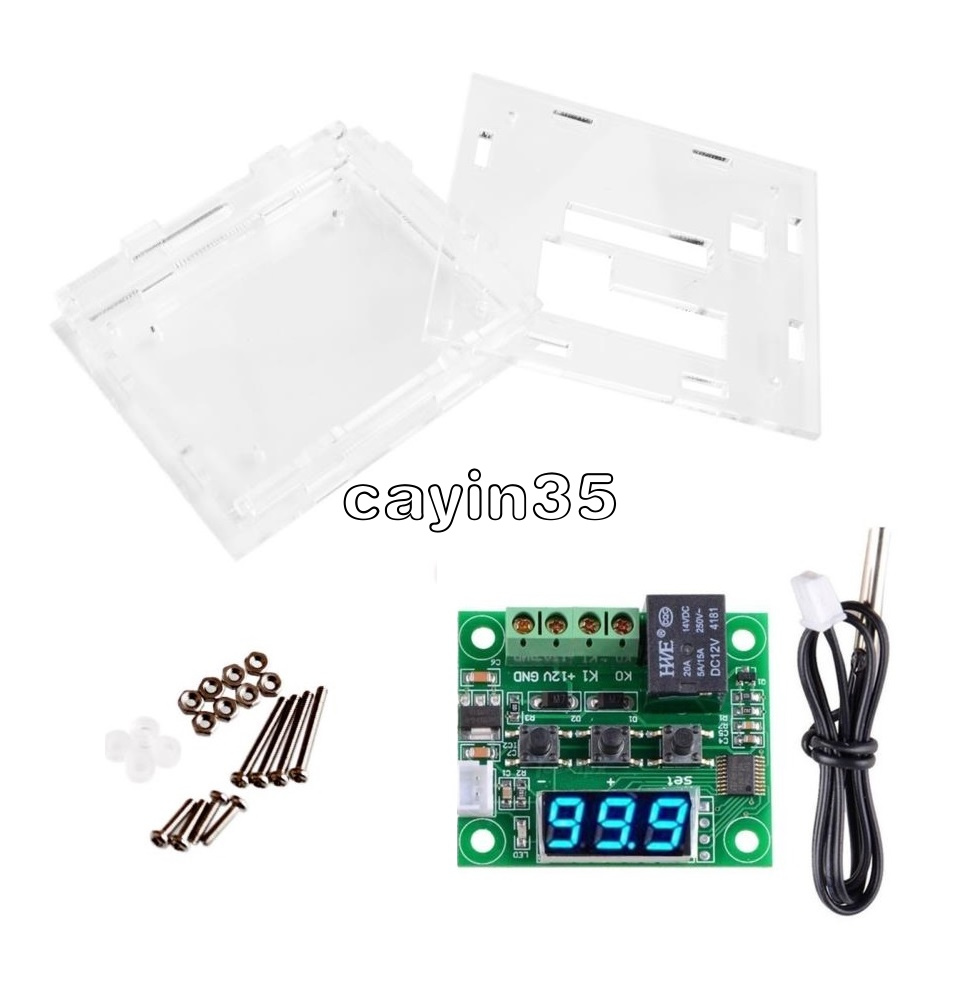 DC12V W1209 Thermostat Temperaturregelung Schalter Regler Thermometer Case