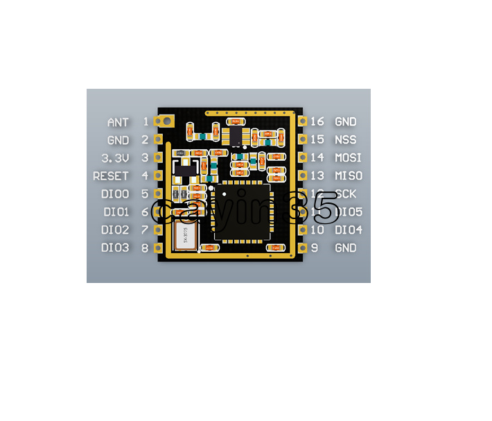 Details about SX1278 LoRa Spread Spectrum Wireless Module 433MHz Serial SPI  Interface Ra-01 C