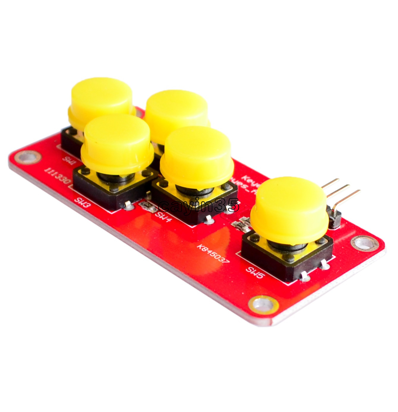 100% True New Ad Keyboard Electronic Blocks Simulate Five Key Module Analog Button For Arduino Back To Search Resultstools
