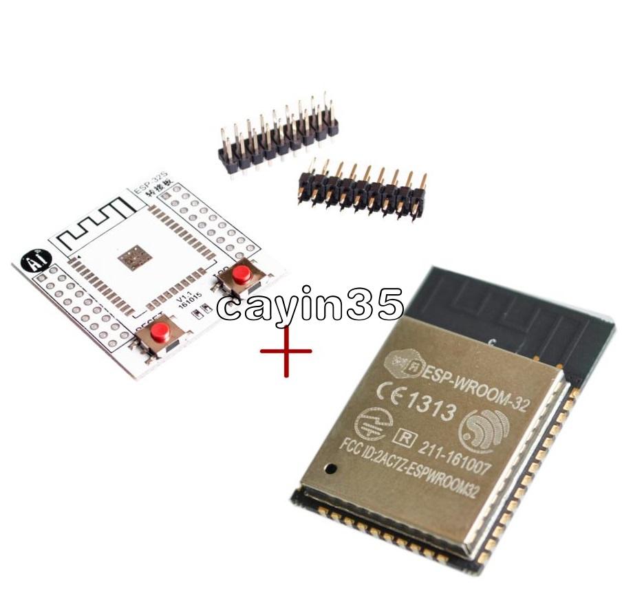 ESP-WROOM-32 original ESP32 ESP32S IoT Wifi Wlan BLE Module+Adapter Board