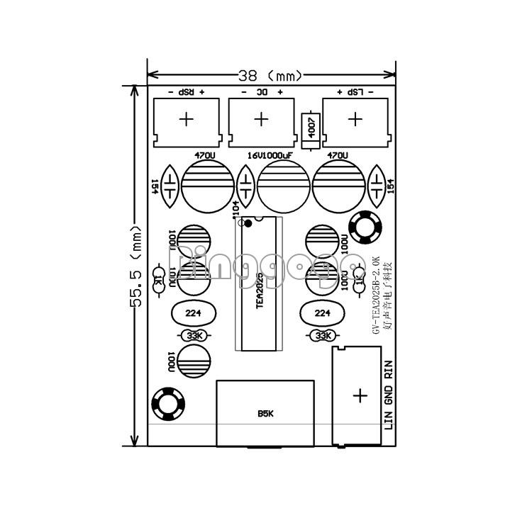 tea2025b 2 0 stereo dual channel 3w 3w audio amplifier