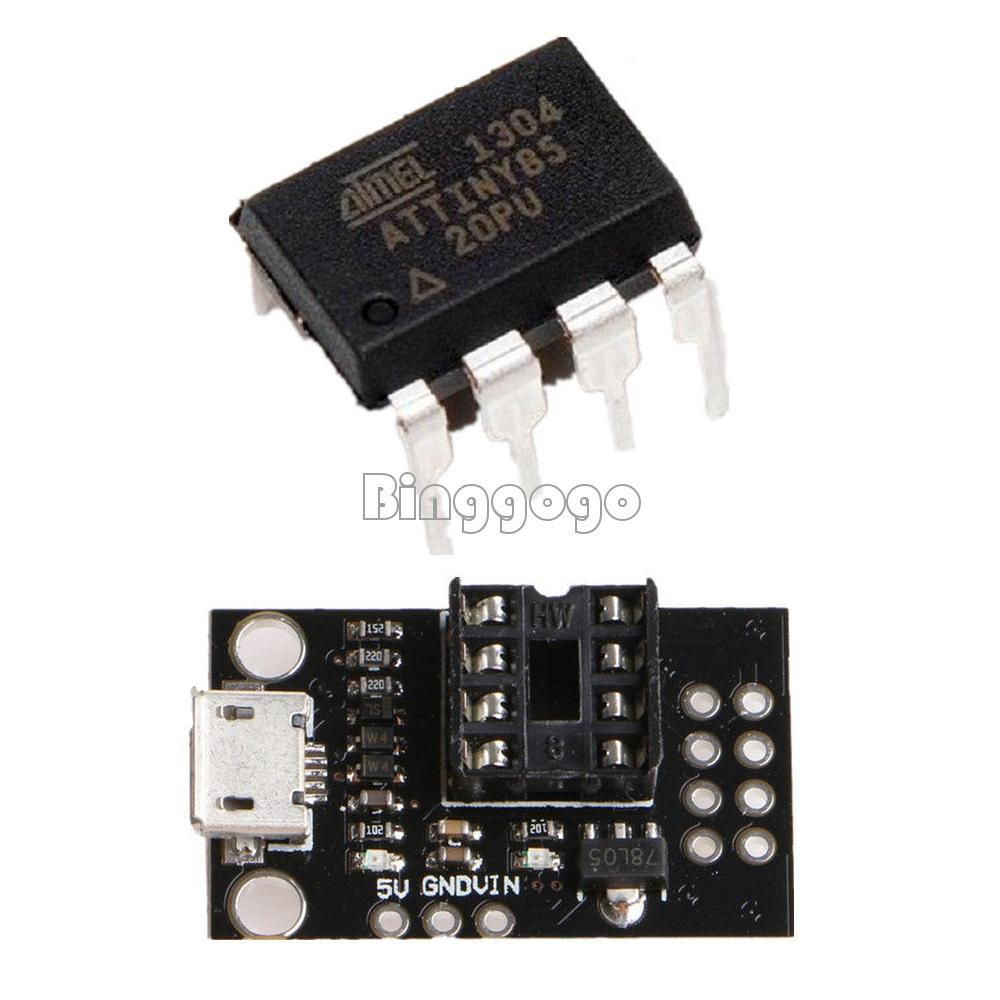 Mini ATTINY85 Micro USB Development Board for Tiny85-20PU DIP-8 IC  NICA