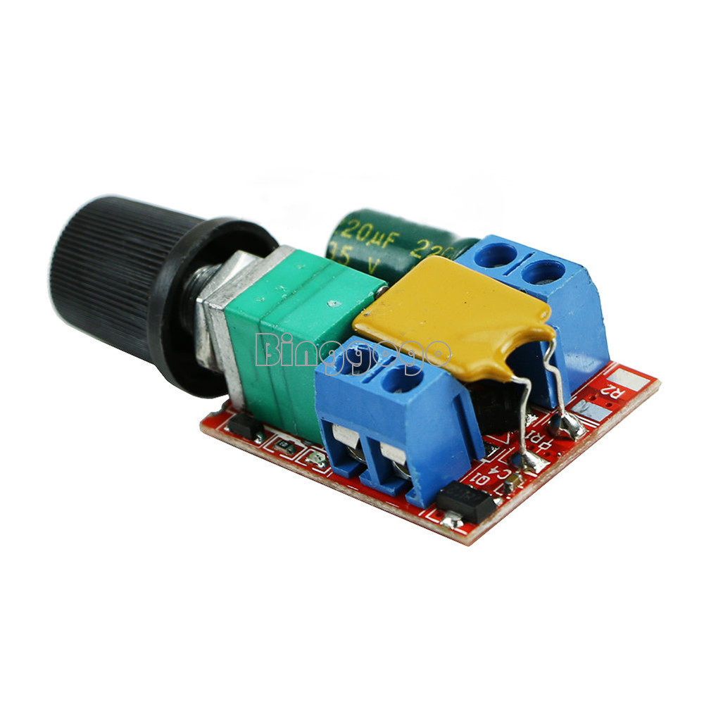 Mini 5a motor pwm speed controller dc 3v 35v speed control for Small dc motor controller