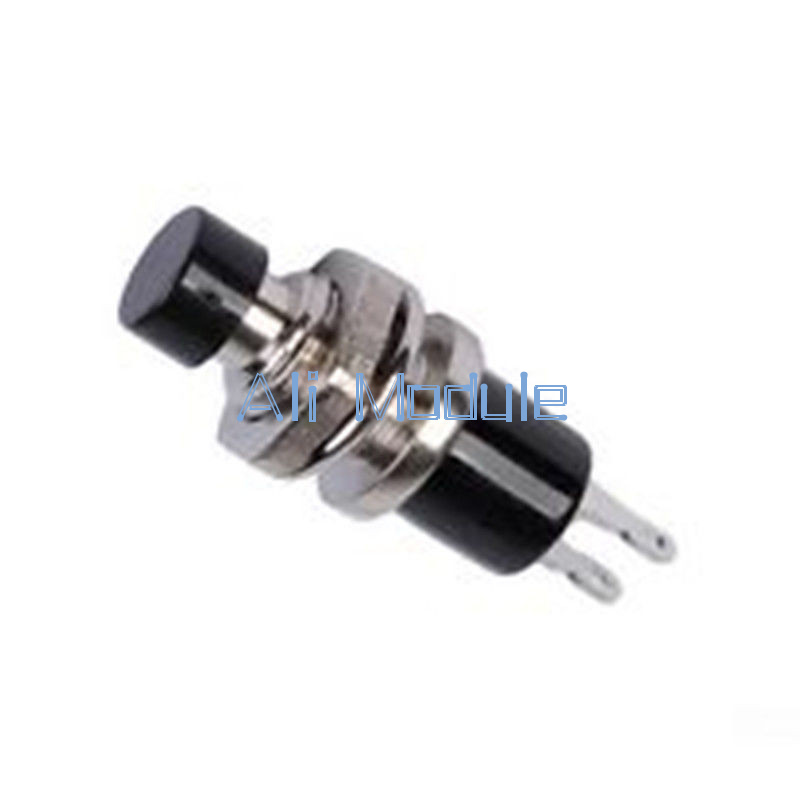10pcs Black mini Lockless Momentary ON//OFF Push Button Mini Switch PBS-110 E7