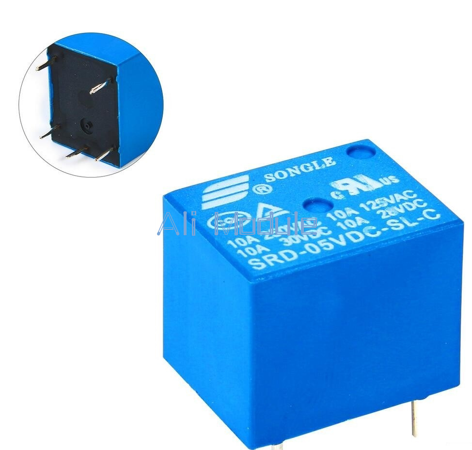 Hot 2pcs Mini Power Relay 5v Dc Srd 5vdc Sl C Pcb Ebay Electrical Getting Contact Resistance 100m Ohm Life 100000 Mechanical 10000000 Coil Rated Voltage 3 48vdc 036w