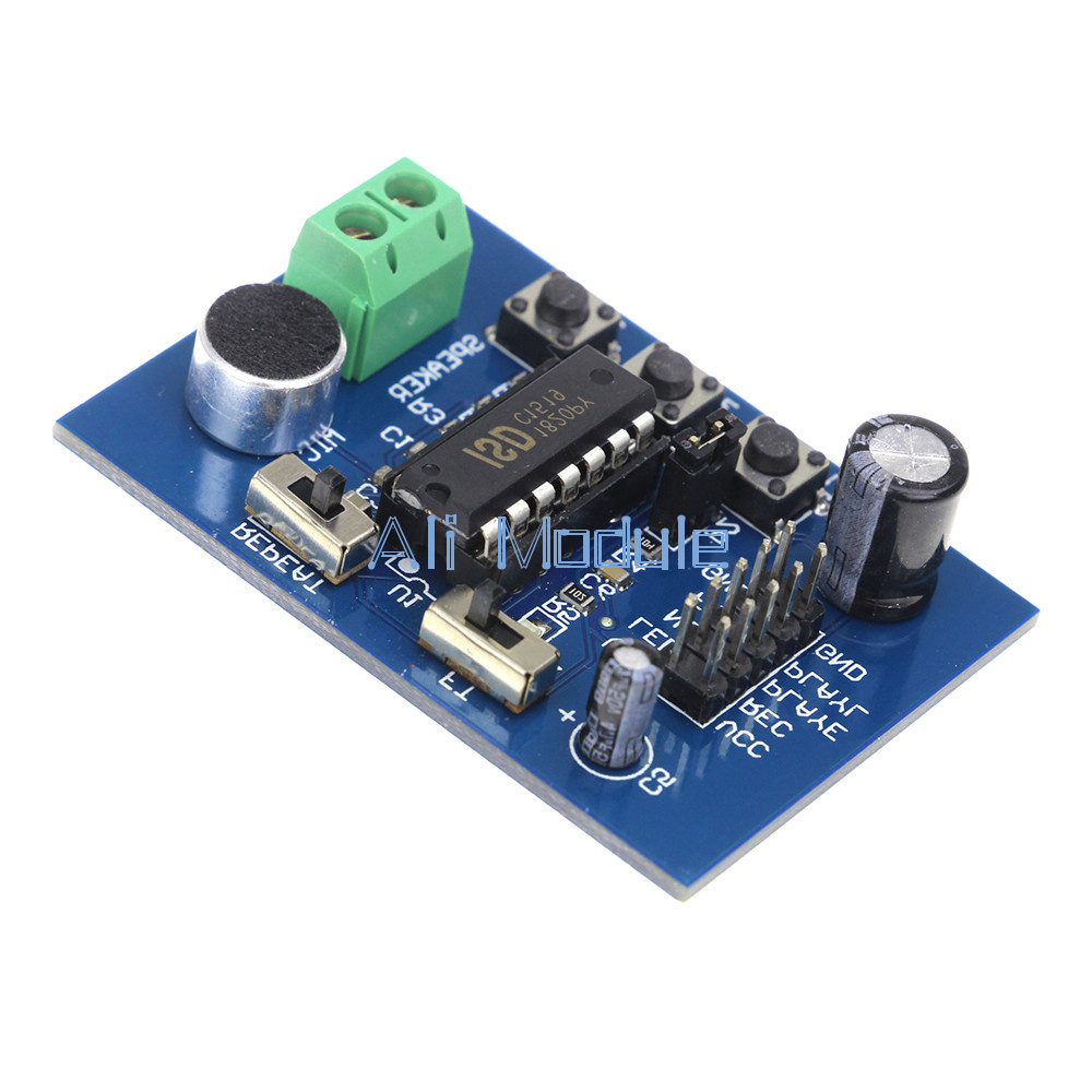 Isd1820 Voice Board Sound Recording Recorder Playback Module On And Circuit Microphone