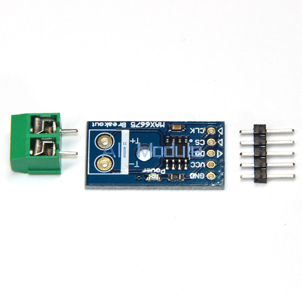 Arduino max type k thermocouple temperature sensor