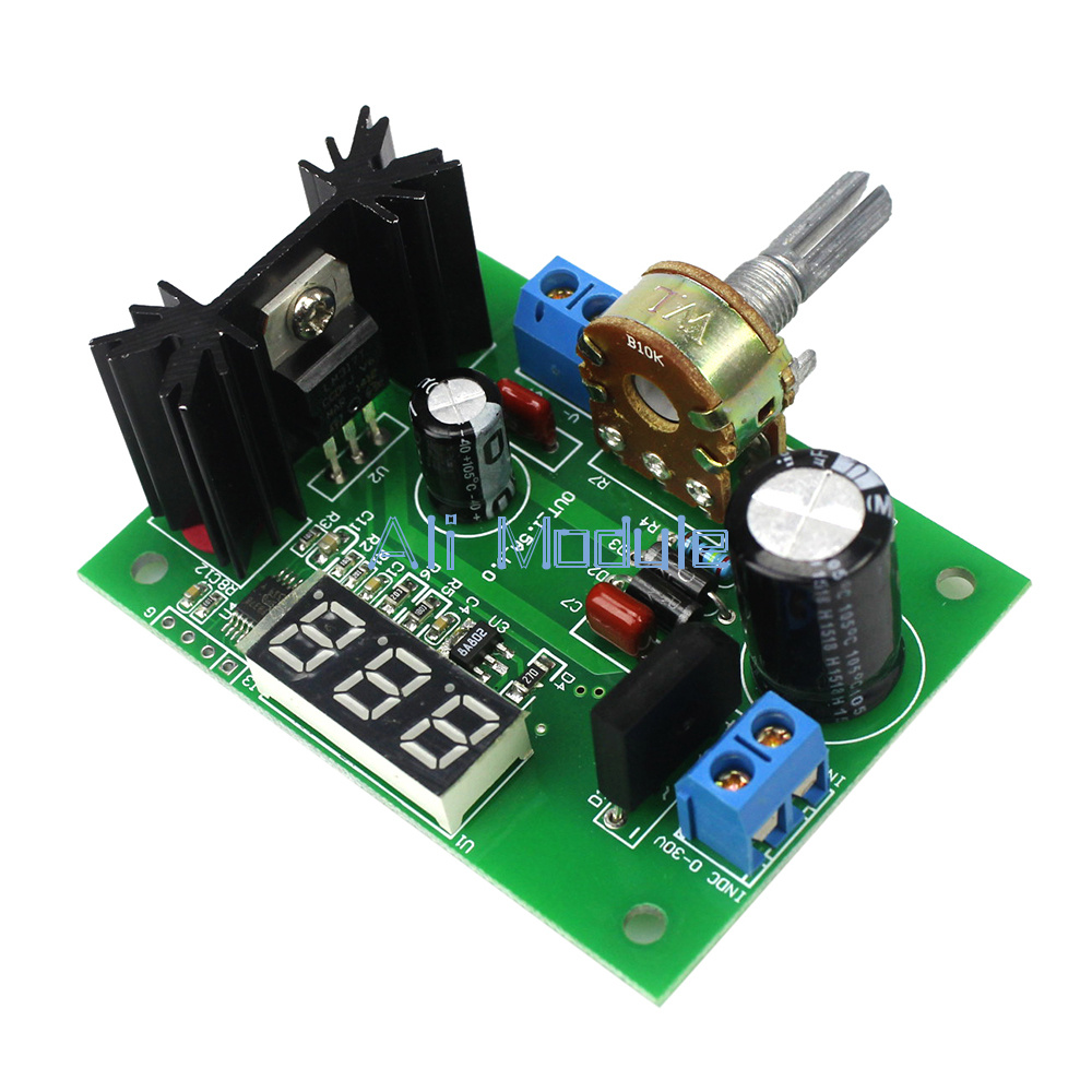 Lm317 Ac Dc Adjustable Voltage Regulator Step Down Power Supply Led Circuit With Variable Output Of 12 30v Display Modu