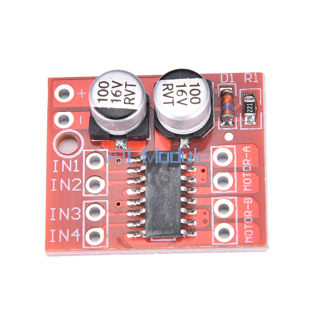 2pcs 15a Mini Dual Channel Dc Motor Driver Module L298n Pwm Speed 4 Wire Diagram Drive Is Ideal For Use In Battery Powered Smart Car Toy Cars Robots Supply Voltage 2v 10v Can Two Motors Or A 2 Phase