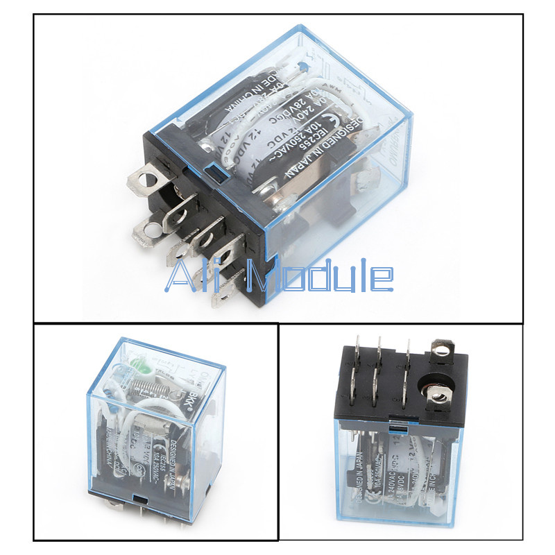 2PCS OMROM LY2NJ Smal Relays DC 24V 10A 8PIN Coil DPDT