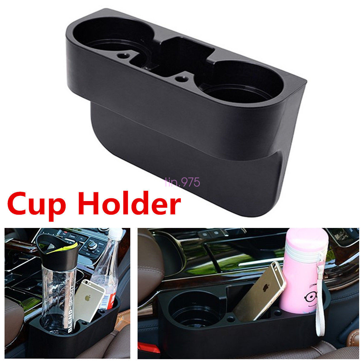 car seat seam wedge cup holder food drink bottle mount. Black Bedroom Furniture Sets. Home Design Ideas