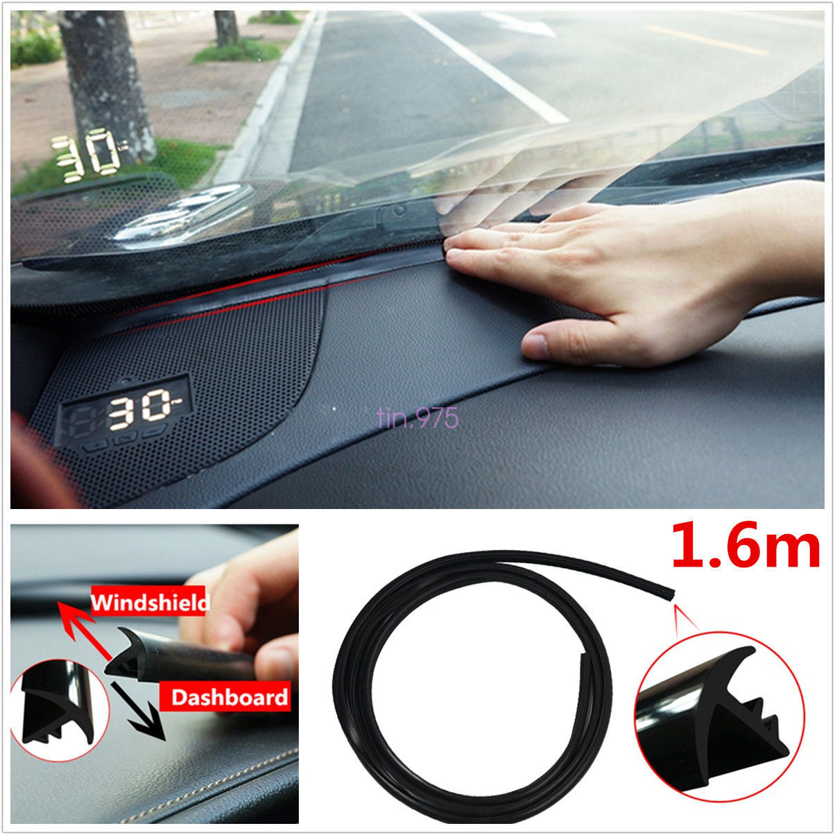 1 6m Car Windshield Dashboard Sealing Strip Noise