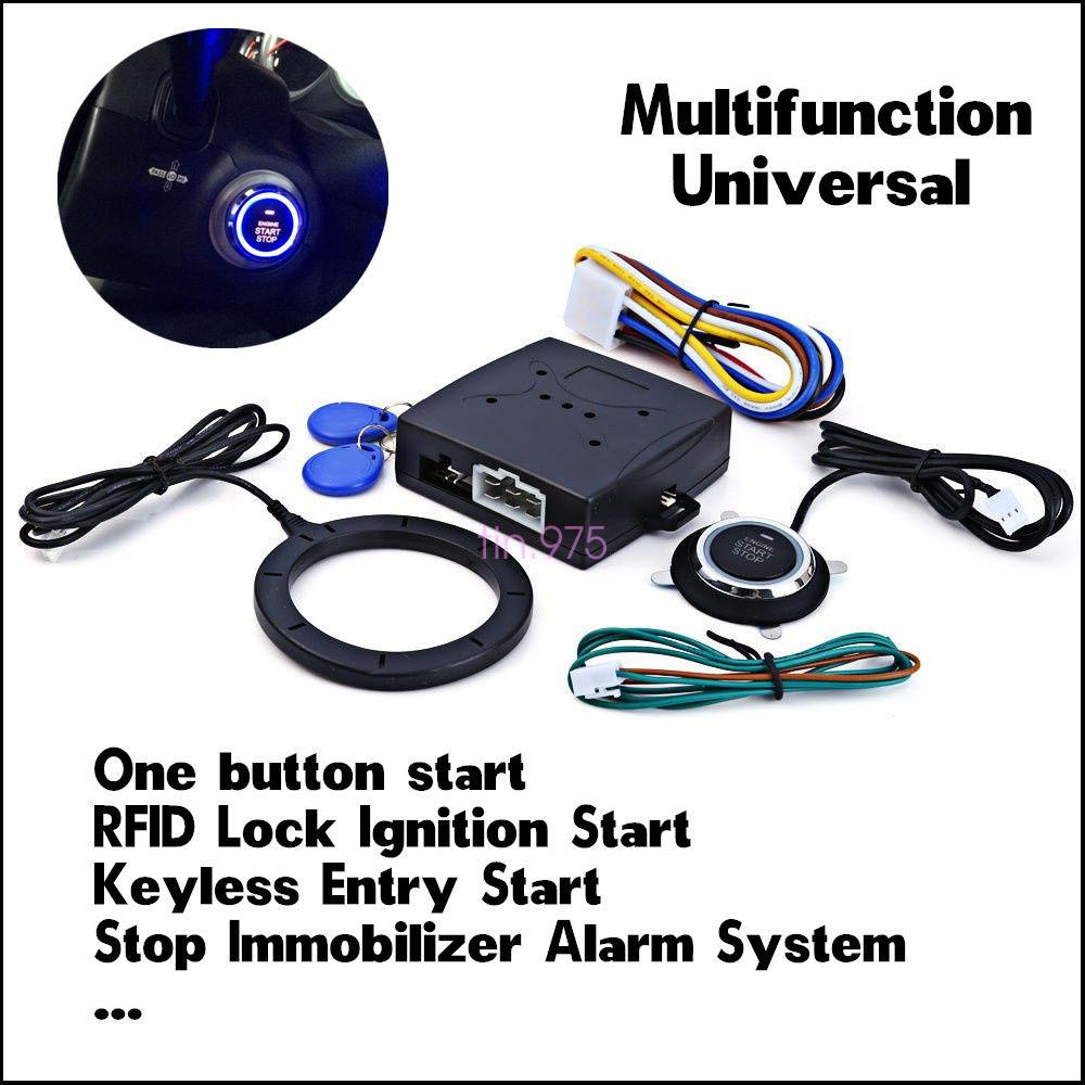 Car SUV Engine Push Start Button RFID Lock Ignition