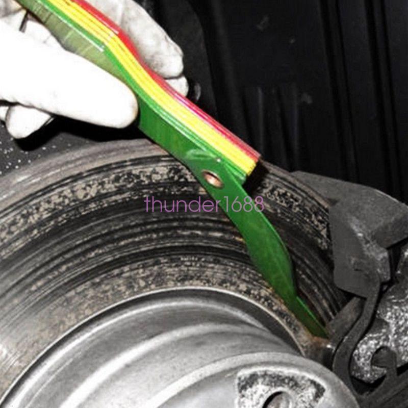 Brake Feeler Gauge : In automotive brake pad feeler lining thickness gauge