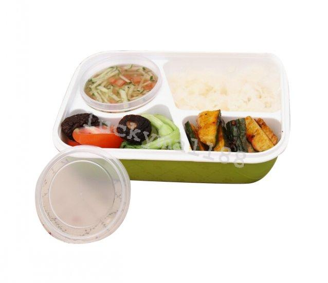 rectangular lunch bento box microwave safe food container 4 separate spaces fda ebay. Black Bedroom Furniture Sets. Home Design Ideas