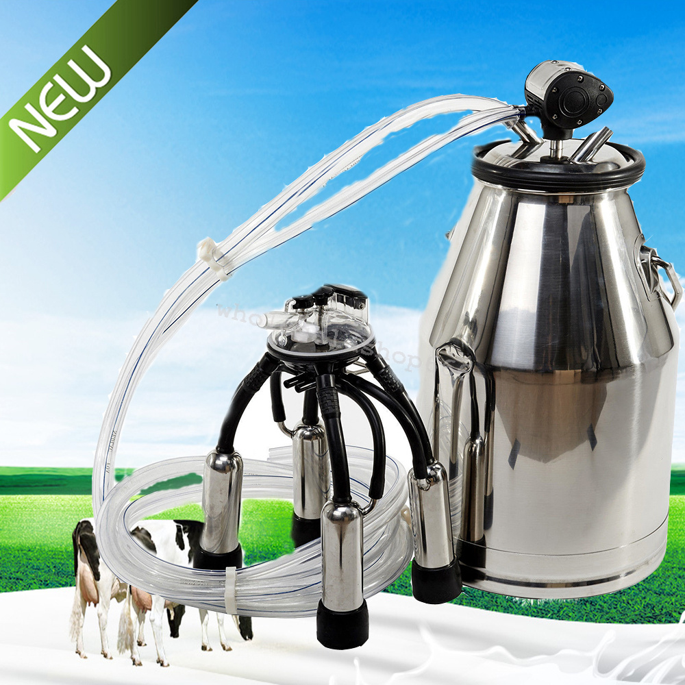 Portable 25L Cow Milker Milking Bucket 304 Stainless Steel Dairy Tank *From USA*