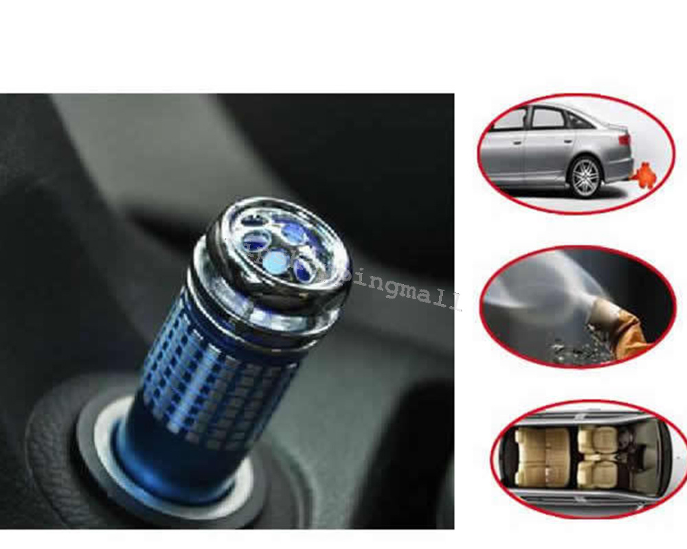12v car interior air fresh oxygen bar ionizer cleaner purifier blue color ebay. Black Bedroom Furniture Sets. Home Design Ideas