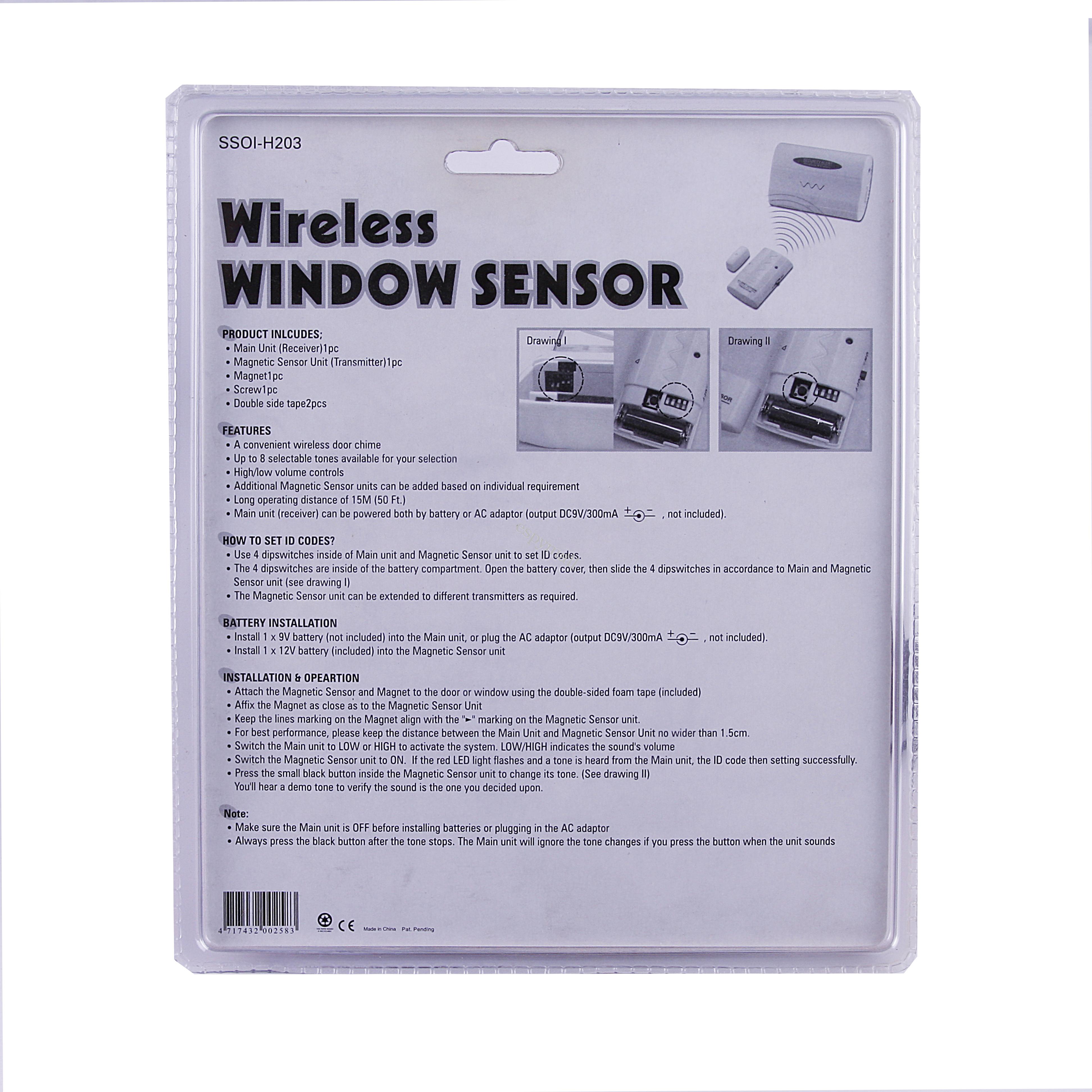 Wireless Home Window Door Burglar Security Alarm System Magnetic Powered By Battery Description