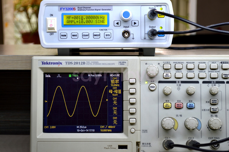 Triangle And Squarewave Generator By Ic 40106