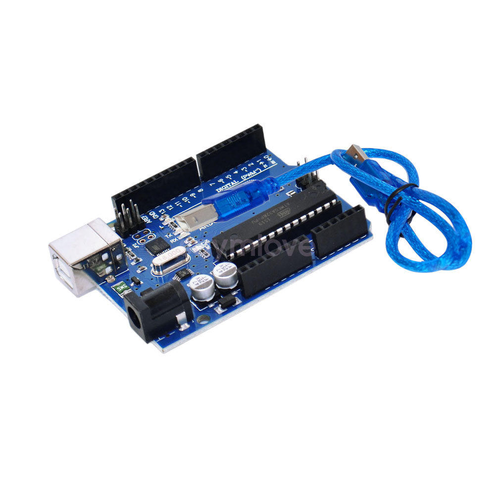 New uno r atmega p u version board usb cable