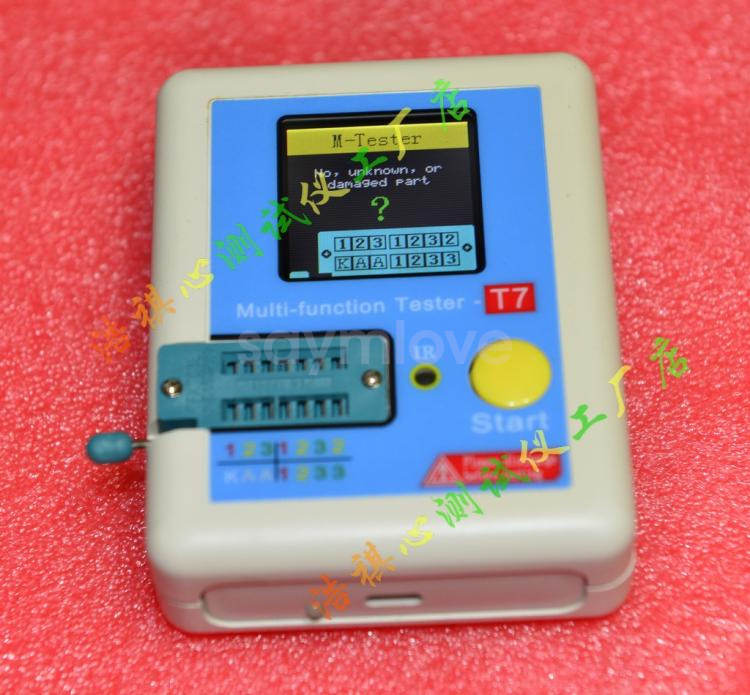LCR-T7 Transistor Tester TFT Diode Triode Capacitance ESR Meter LCR MOSFET CY