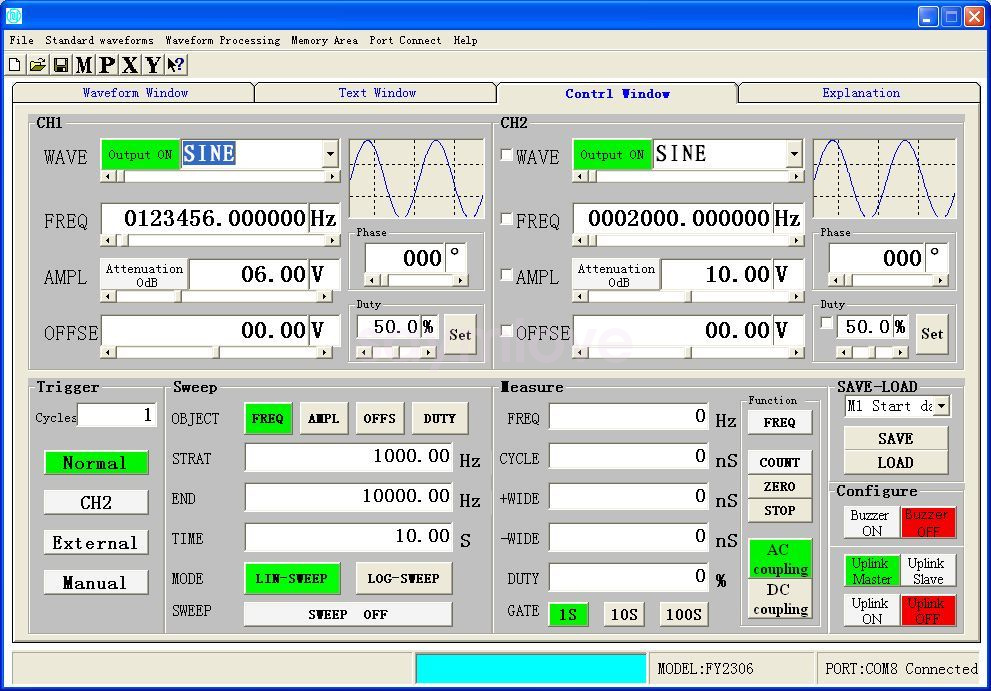 Details about 2MHz Arbitrary Waveform Dual Channel Signal Generator  200MSa/s Frequency Counter