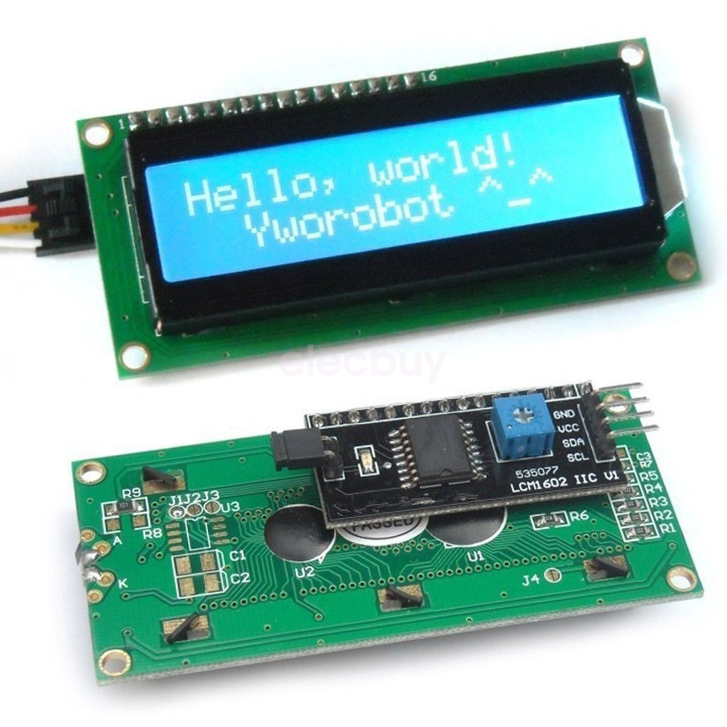 New blue iic i c twi serial lcd module display