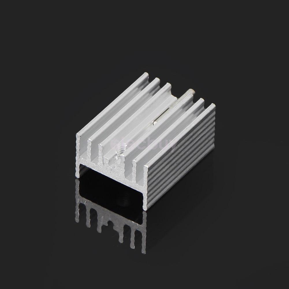 10Pcs TO-220 Silber Kühlkörper Heat Sink for Voltage Regulator or MOSFET
