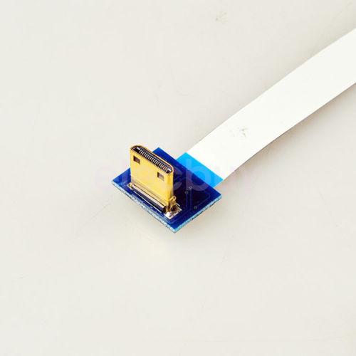 Nouveau 30 cm Angle Droit Mini HDMI pour HDMI Flexible Plat Câble Ruban Pour FPV