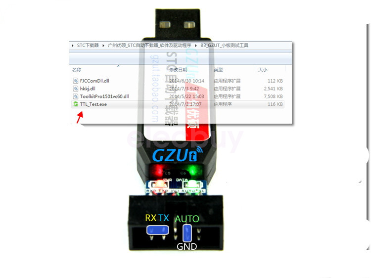 Details about STCISP / USB to TTL Download Cable STC AUTO Programmer CH340G  3 3V 5V MSP430