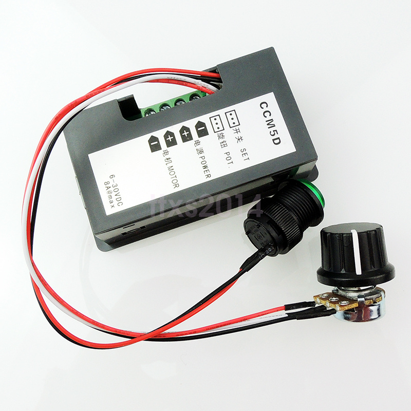 Dc 6 30v 12v 24v max 8a motor pwm speed control with for Digital dc motor speed control