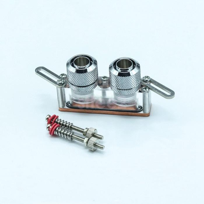 6cm VGA//GPU//chipset mosfet water cooling block acrylic+cooper G1//4