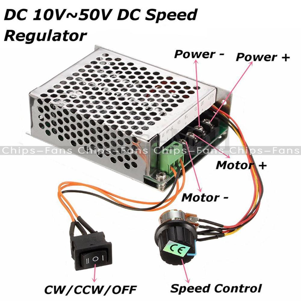 10 50v 40a Pwm Dc Motor Speed Control Controller Cw Ccw